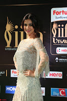 Sonal Chauhan in a stonework Floor Length Silver Designer Gown at IIFA Utsavam Awards March 2017 029.JPG