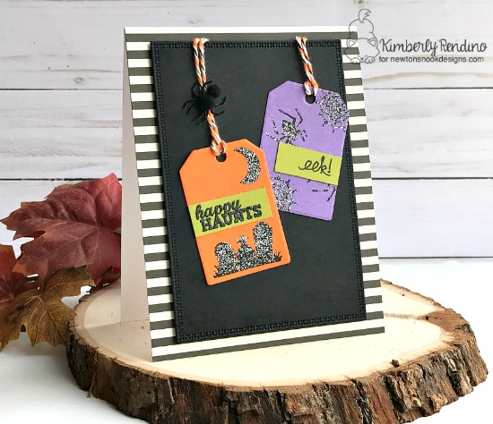 Happy Haunts Card by Kimberly Rendino | Spooky Street Stamp set by Newton's Nook Designs #newtonsnook