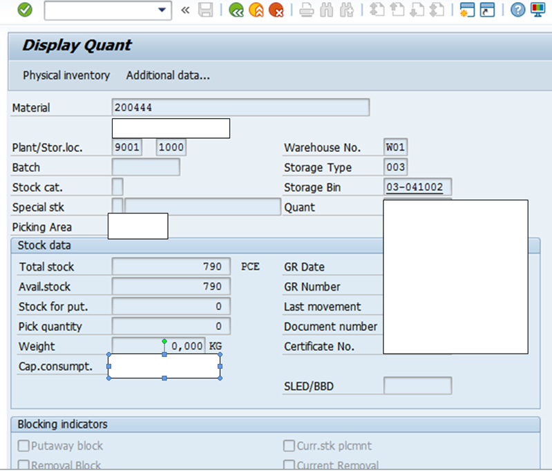 SAP ABAP Central: Physical Inventory with respect to WM