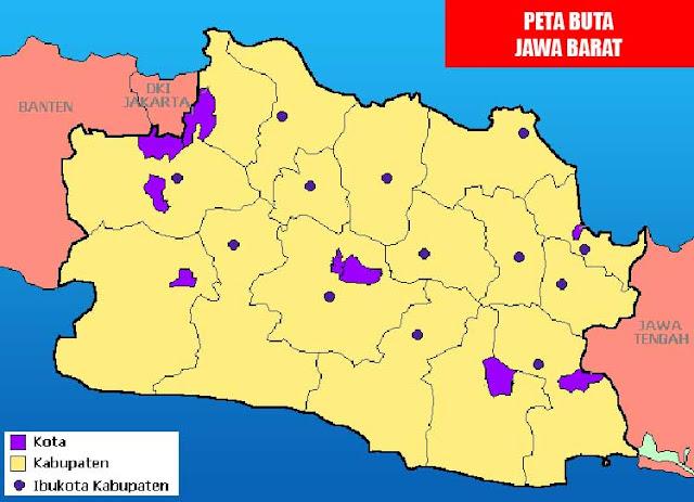 Gambar Peta Buta Jawa Barat Berwarna