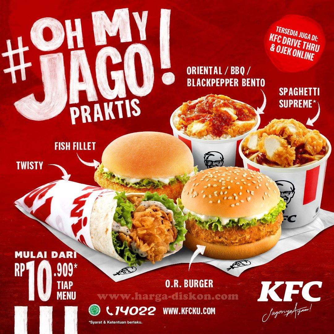 Promo Kfc Harga Spesial Menu Pilihan Hanya Rp10 909 Mulai 14 April 2020 Harga Diskon