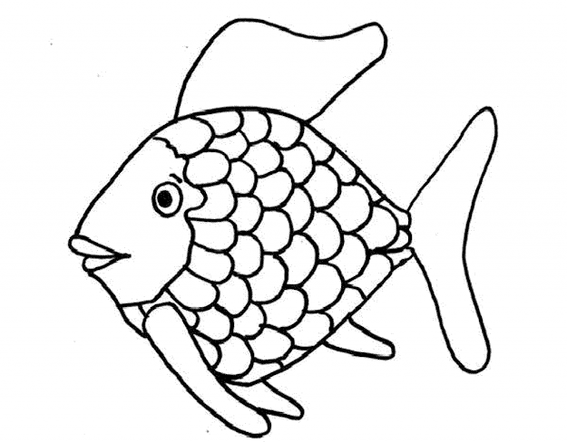 Rainbow Fish Coloring Pages  With Printable
