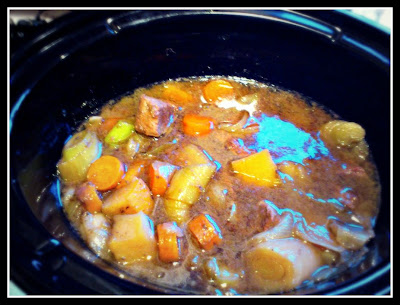 Beef and Honey slow cooker stew