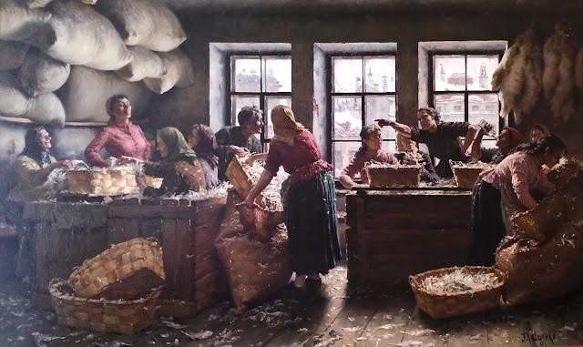 А.Д. Кившенко Сортировка перьев, 1891 г.