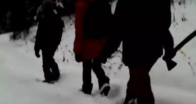 Школьники башкирской деревни Ямаш ходят на занятия с топорами, сообщается, что родители надеются таким образом уберечь детей от нападения медведей и других диких животных. Видео одного из таких походов они выложили в Сеть.