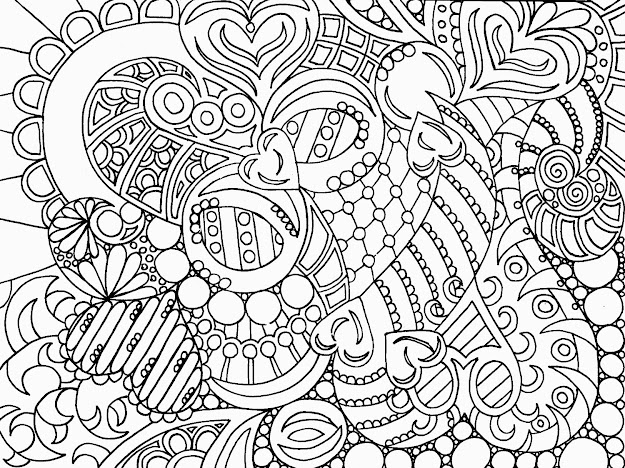 Free Printable Abstract Coloring Pa