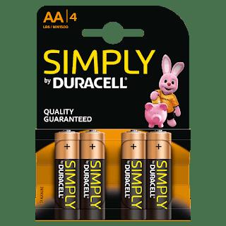 batteria duracell simply stilo AA