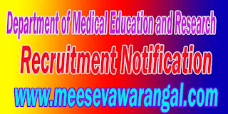 Department of Medical Education and Research Recruitment Notification