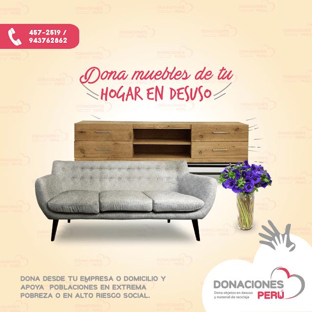 Dona muebles de tu hogar - Dona Perú - Dona escritorios - Dona mesas -  Donaciones Perú
