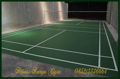 jasa tukang cat lapangan tenis hijau