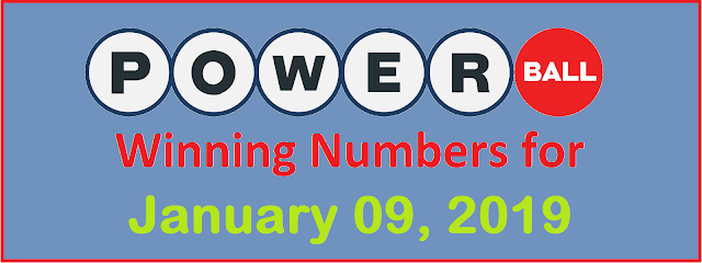 PowerBall Winning Numbers for Wednesday, 09 January 2019