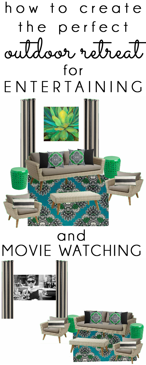 Outdoor Patio Living Room Movie Theater