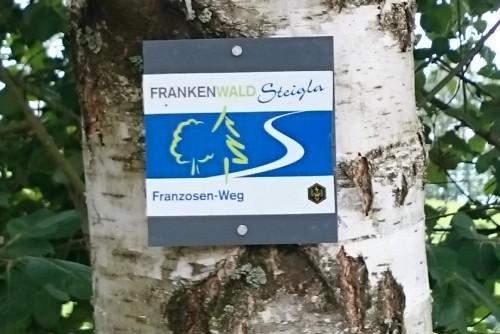 Frankenwald-Steigla - Franzosen-Weg Beschilderung