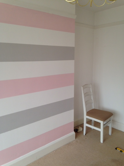 How to paint a striped feature wall the home that made me - How long to paint a 3 bedroom house ...