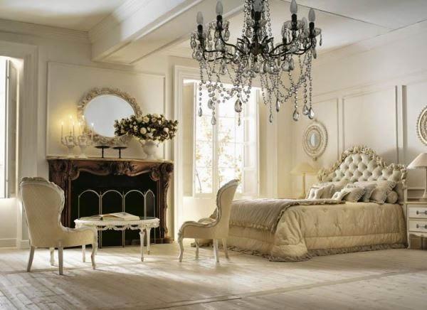 Gambar kamar tidur utama gaya klasik yang nyaman