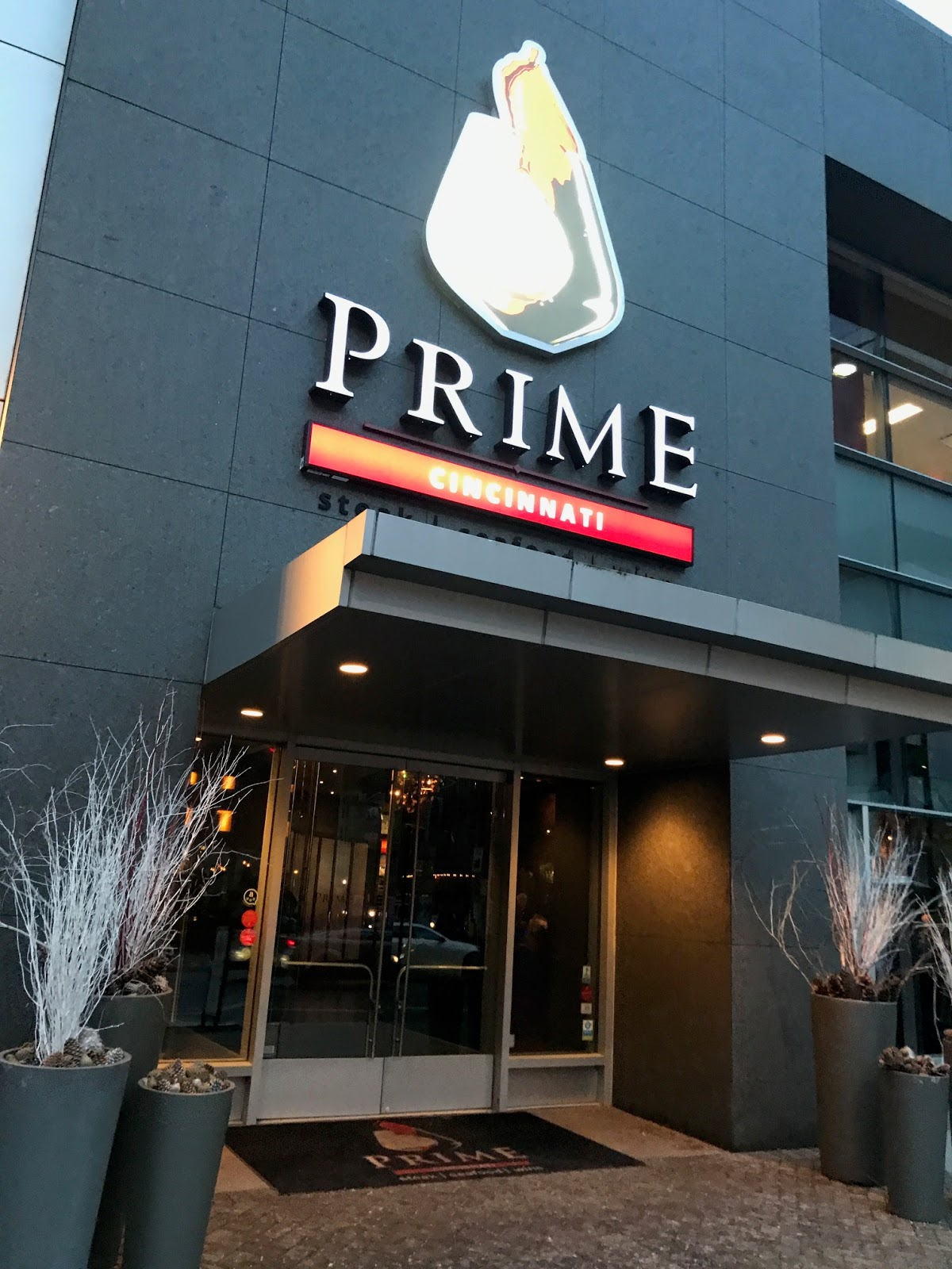 So We Headed To Prime Cincinnati Right Across The Street They Were Kind Enough Let Us Try Out Their Pre Theater Menu Before Show
