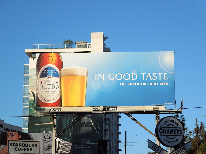 Michelob Ultra good taste billboard