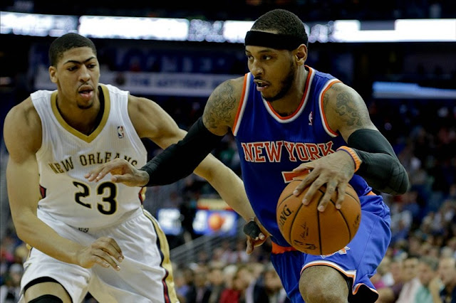 Carmelo Anthony prend de vitesse Anthony Davis