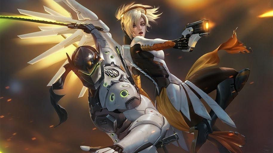 Genji Mercy Overwatch 4k Wallpaper 22