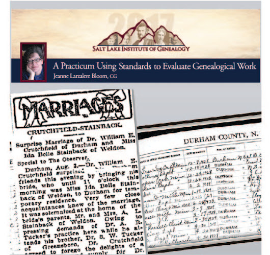 Utah Genealogical Association: Standards! Standards! Standards!
