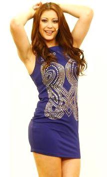 Foto de Karla Tarazona con vestido corto
