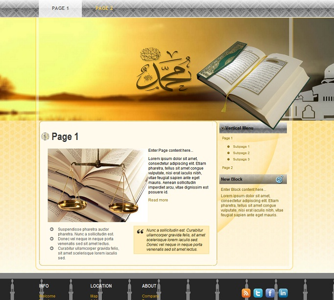 Best html islamic template for websites v2 template that for Muslim will template