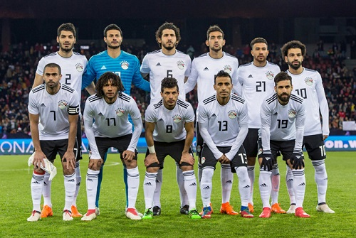 Salah trong đội hình đội tuyển bóng đá quốc gia Ai Cập.