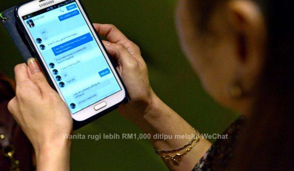 Wanita rugi lebih RM1,000 ditipu melalui WeChat