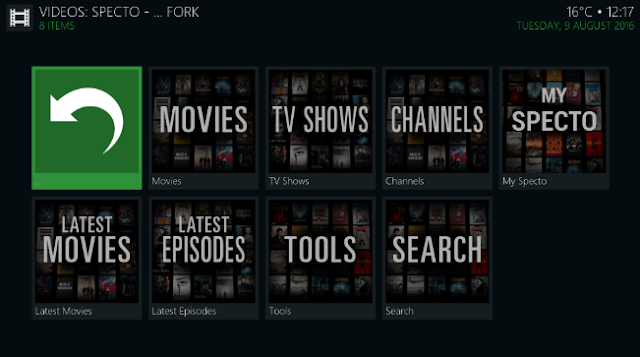 Watch Movies Tv shows on Specto Kodi addon