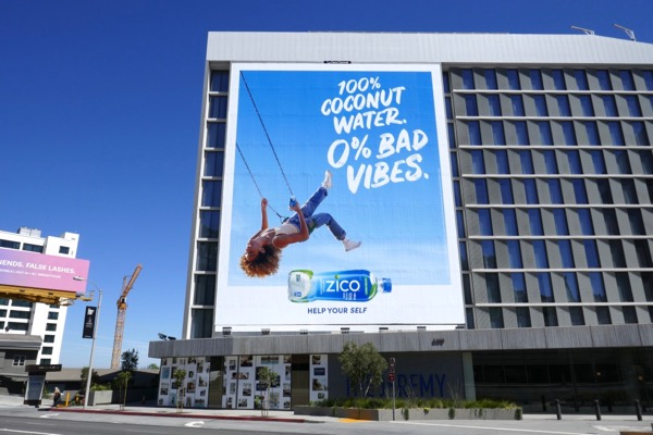 Zico 100% Coconut Water 0% Bad Vibes billboard