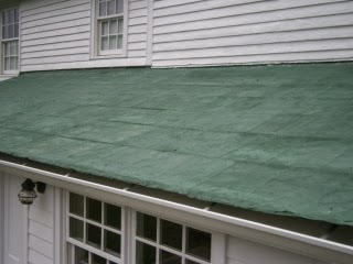Tin roof repair expanded to fully reinforced system after removing rolled plies
