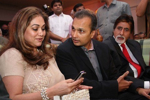 Tina married Anil Ambani