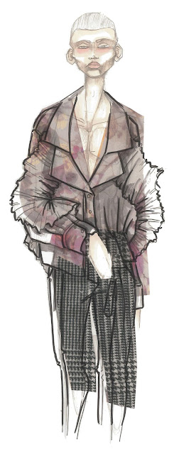 4 new talents of fashion illustration: interview with young fashion design students to showcase their illustrations and fashion sketches