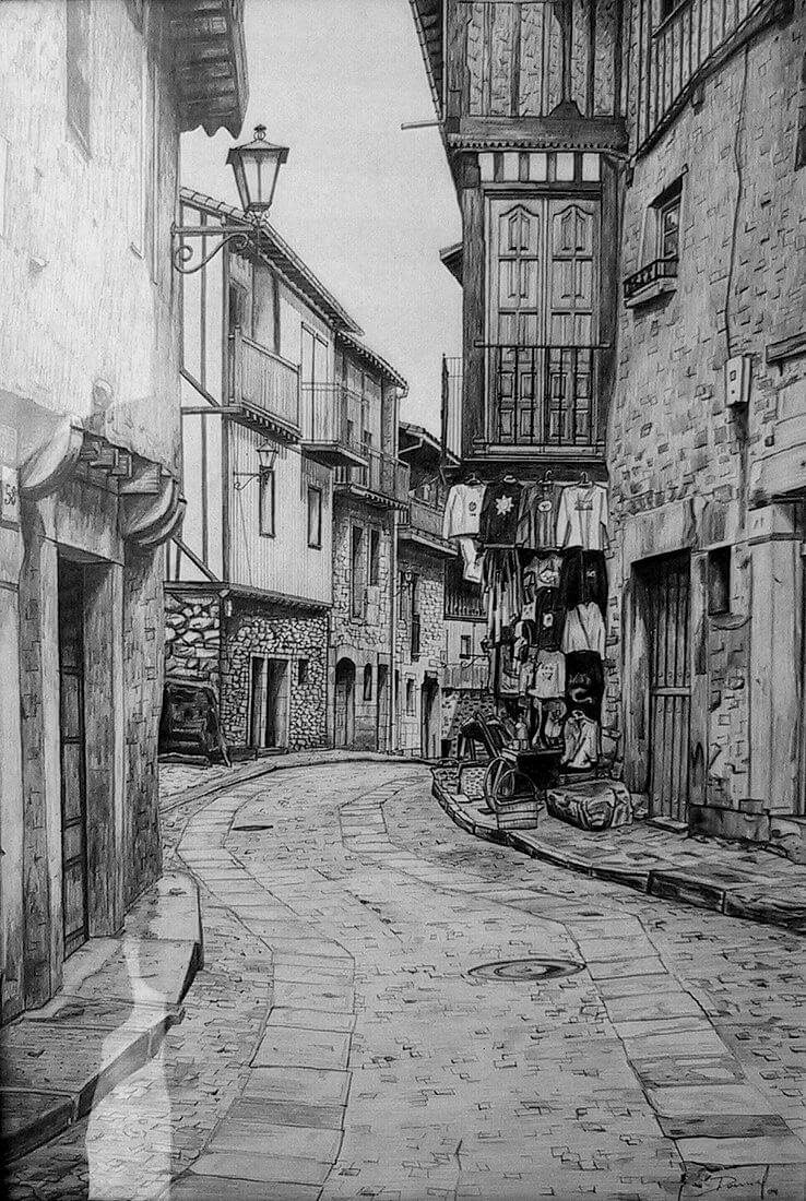 02-Calle-de-La-Alberca-Daniel-Formigo-Pencil-Urban-Architectural-Drawings-www-designstack-co