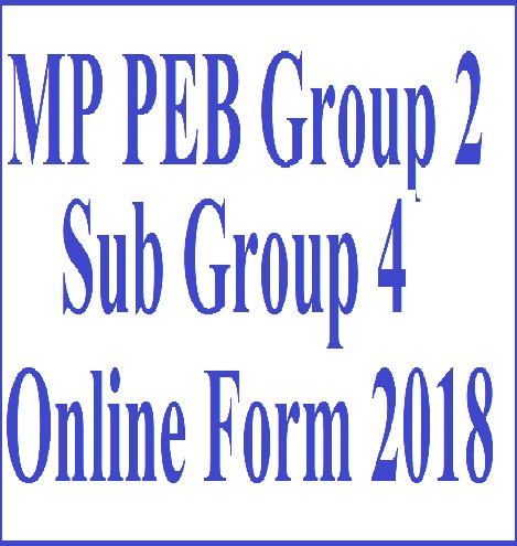 MP PEB Group 2 Sub Group 4 Online Form 2018