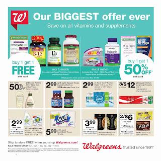 Walgreens Weekly Ad March 11 - 17, 2018