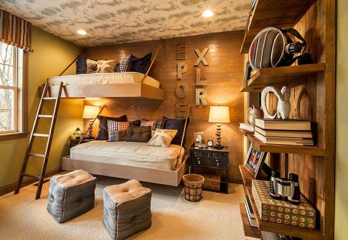 Dormitorio r stico para chico adolescente dormitorios - Habitacion juvenil chico ...