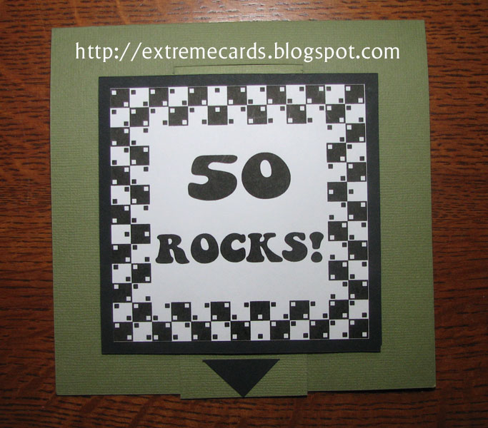 50 Rocks Pull Tab Pop Up Card