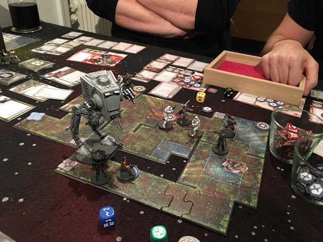 Star Wars Imperial Assault AT-ST attack