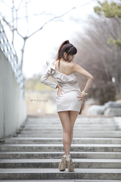 4 Lee Eun Hye - One Shoulder Mini Dress-very cute asian girl-girlcute4u.blogspot.com