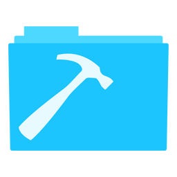 Preview of Hammer, Sky blue, tool, folder icon
