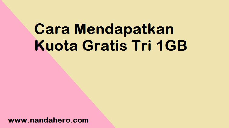 admin hhandromax bagikan informasi perihal kuota gratisan dari Three Tutorial Mendapatkan Kuota Gratis Tri (3) 1GB Terbaru 2019 (UPDATE)