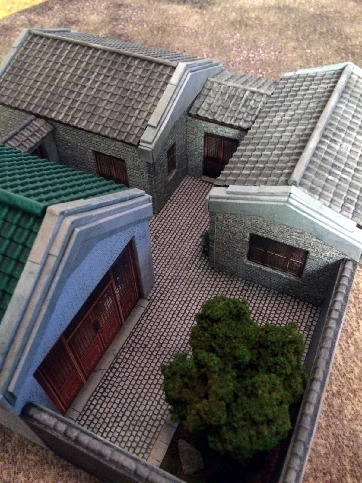 Major Thomas Foolery's War Room: Chinese Hutong Buildings in 28mm
