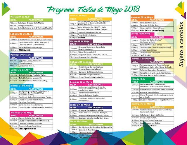 programa fiestas de mayo manzanillo 2018