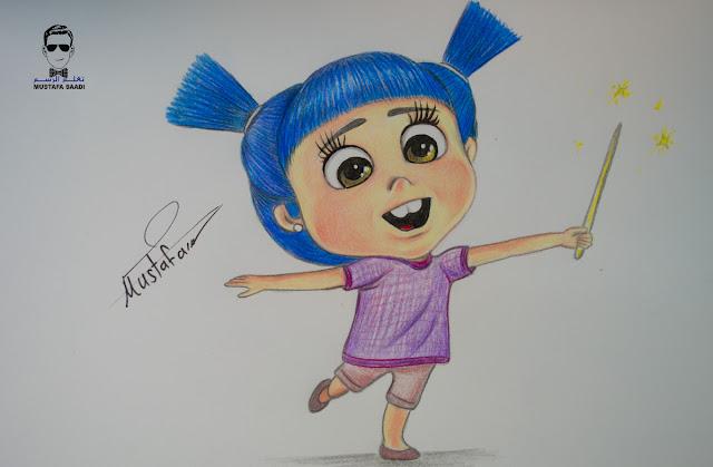 تعلم رسم الفتاة الصغيرة في فواصل رمضان