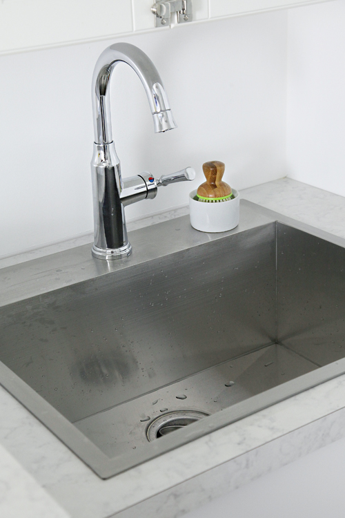 Drop In Laundry Room Sink : After the sink was set and the caulk was dry, we installed the ...