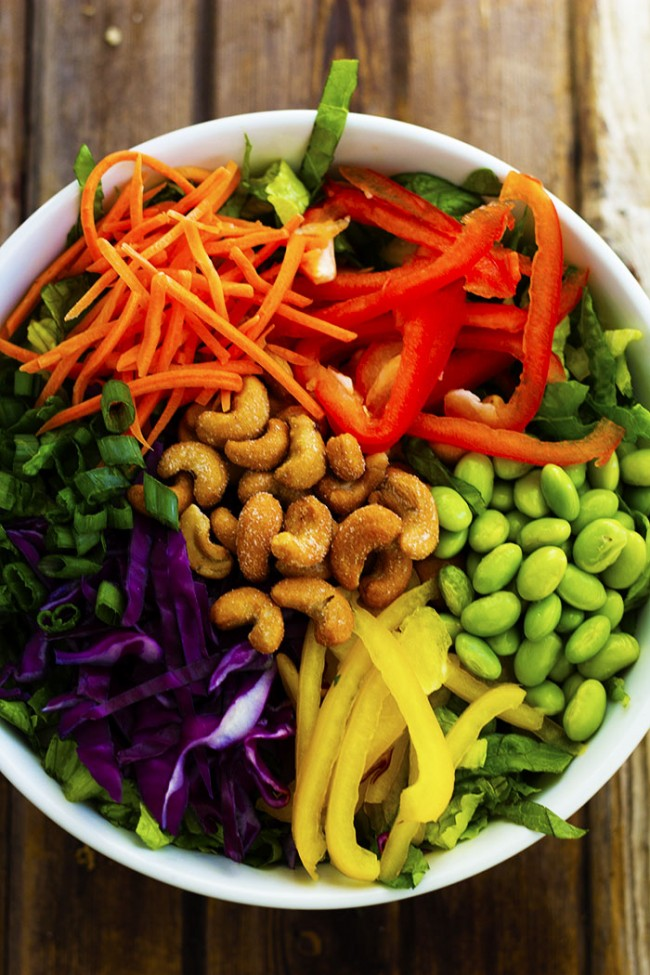 THAI CASHEW CHOPPED SALAD WITH A GINGER PEANUT SAUCE RECIPE