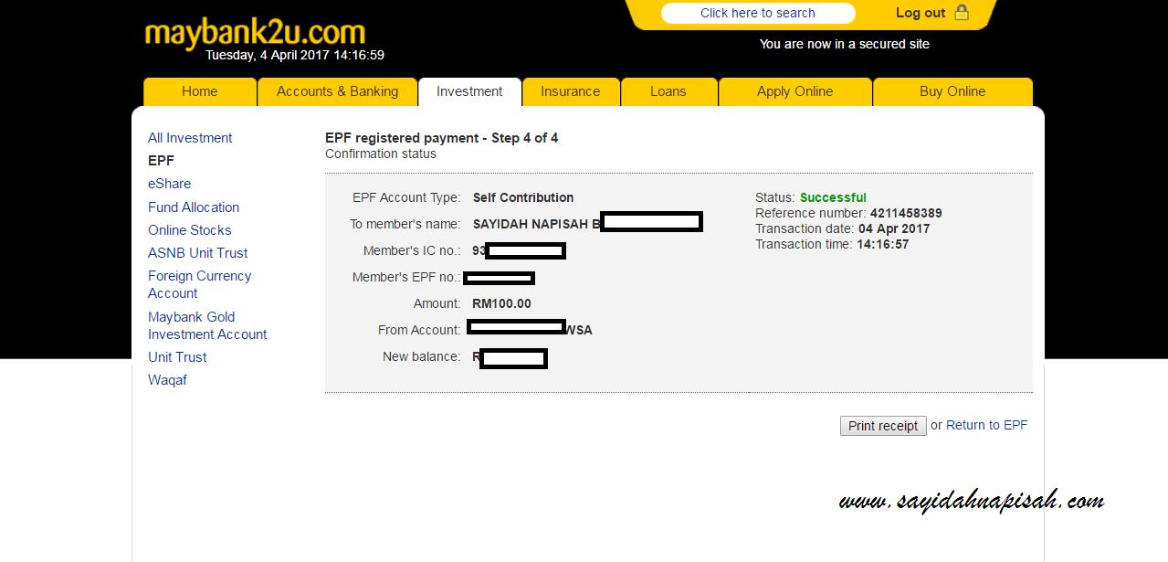 step bayar epf online