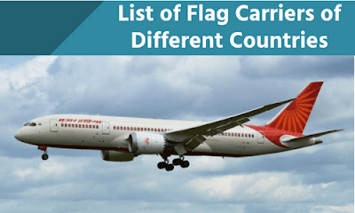 List of Flag Carriers of Different Countries