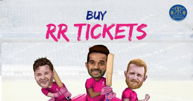 VIVO IPL 2019 Rajasthan Royals (RR) Ticket Booking : Price and Cost